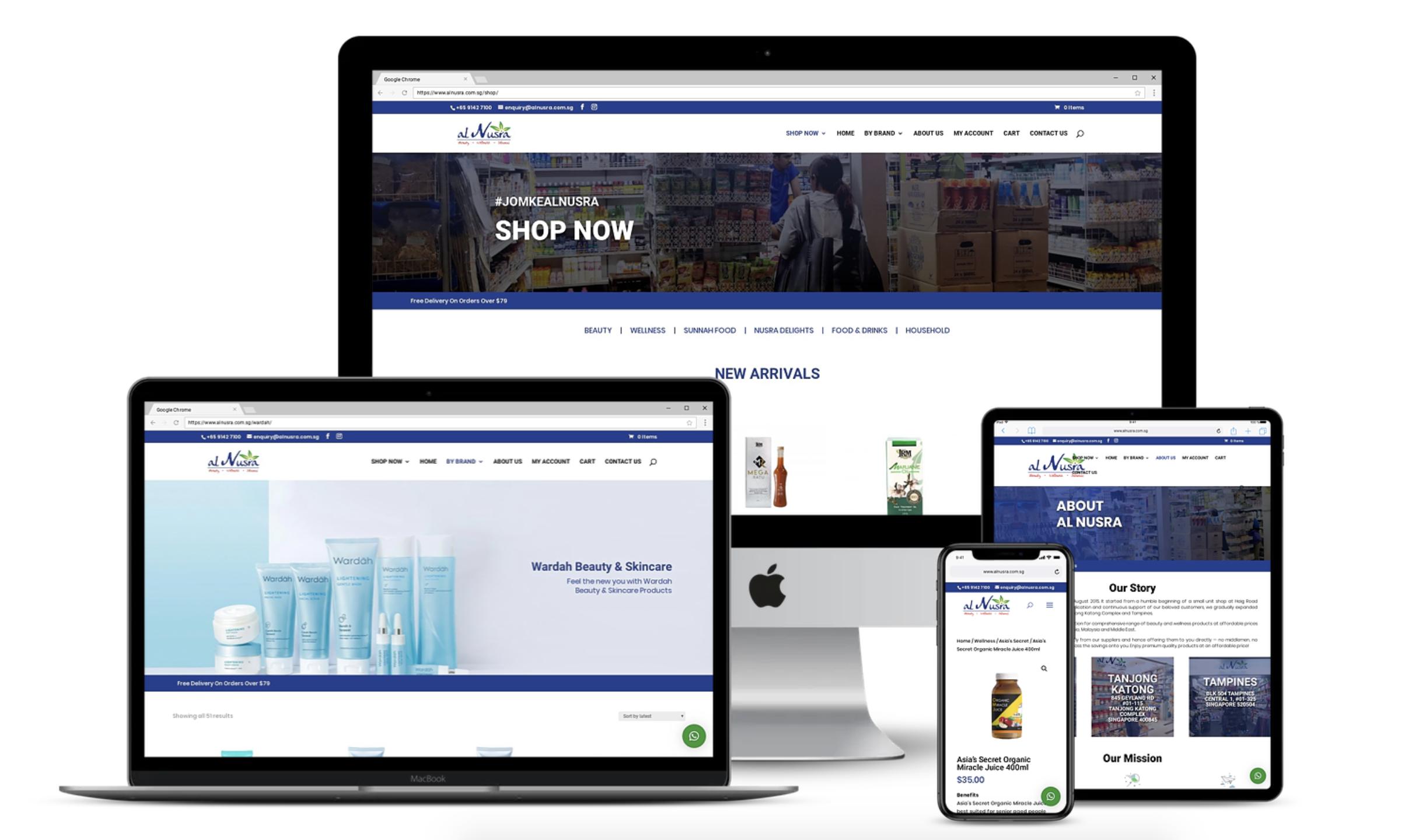 Design & Analytics ecommerce-website-development-singapore Al Nusra