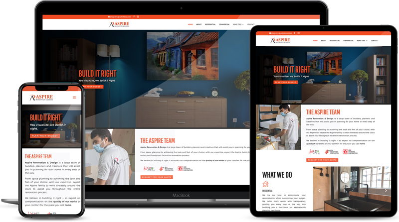 Design & Analytics Aspire-Website Aspire Renovation & Design