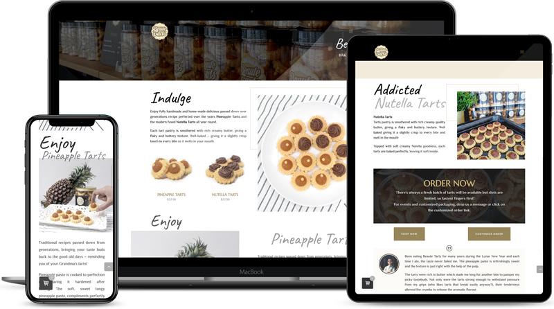 Design & Analytics Beautetarts-website-design Beaute Tarts