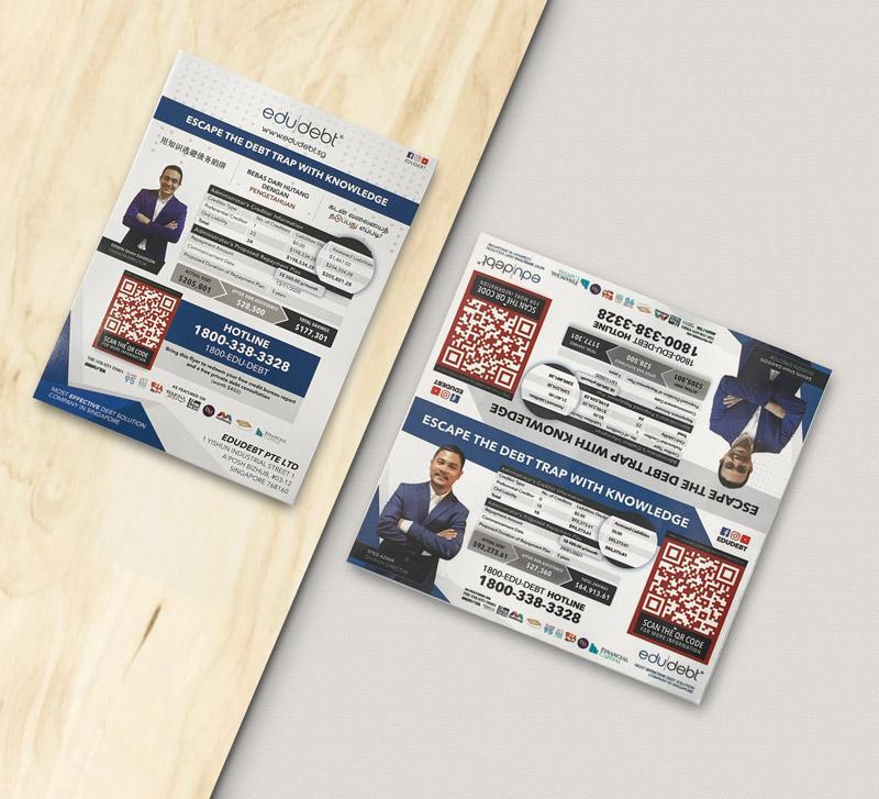 Design & Analytics edudebt-Flyer-sticker-portfolio edudebt